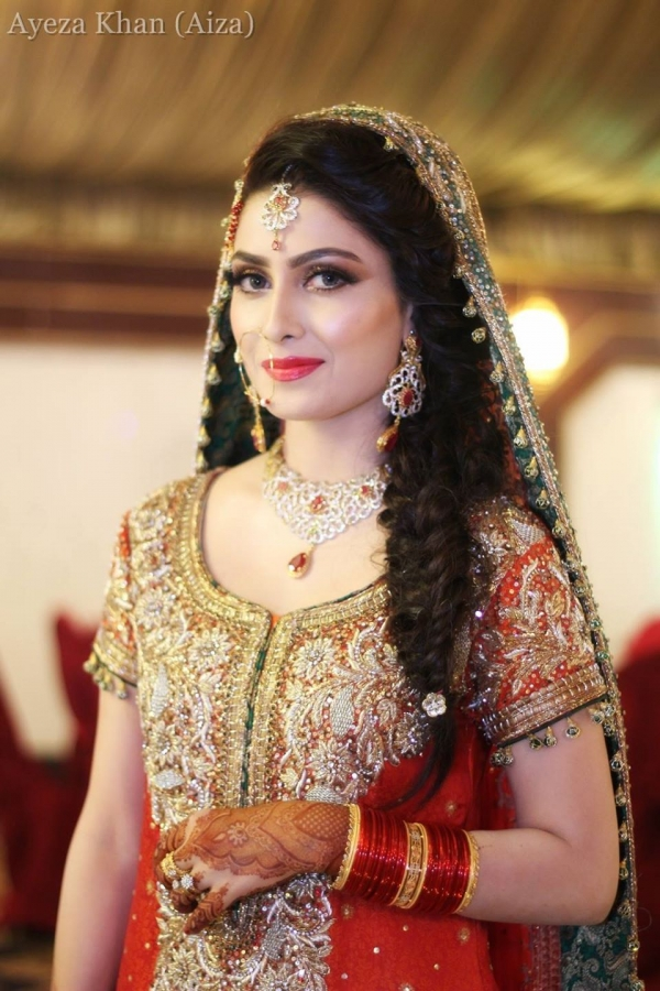 Aiza Khan In Bridal Dress During Her Wedding Picture