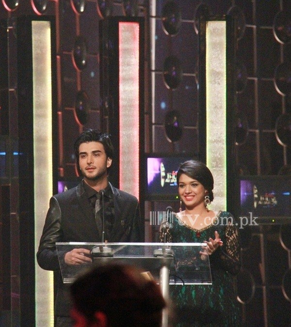 Imran Abbas and Sanam Jung at 1st Hum Tv Awards